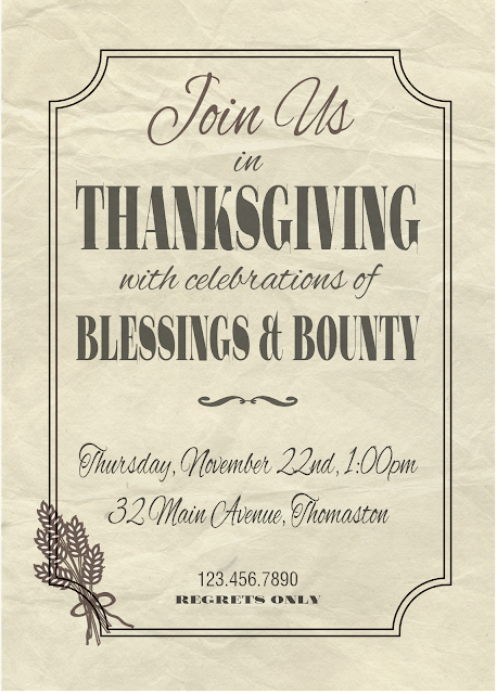 thanksgiving printables by bonhomieDESIGN