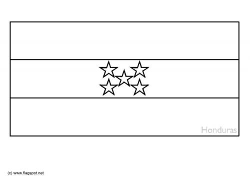 LAMINAS PARA COLOREAR - COLORING PAGES: Mapa y Bandera de Honduras ...