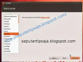 install ubuntu select language