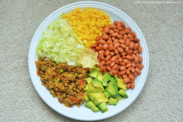 Turkey corn and avocado salad