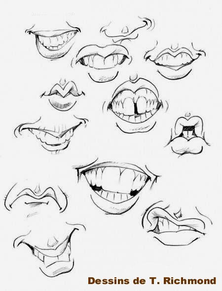 Apprendre a dessiner des caricatures - Bouche en dessin ...