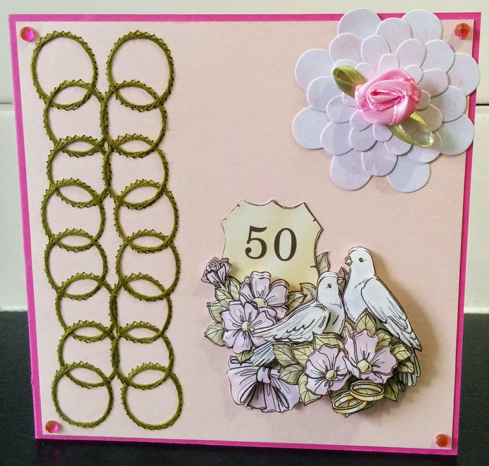 Creatieve handgemaakte kaarten 50 jaar getrouwd - Jaar wallpapers ...