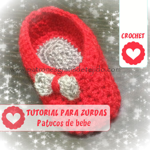 Tutorial patucos crochet