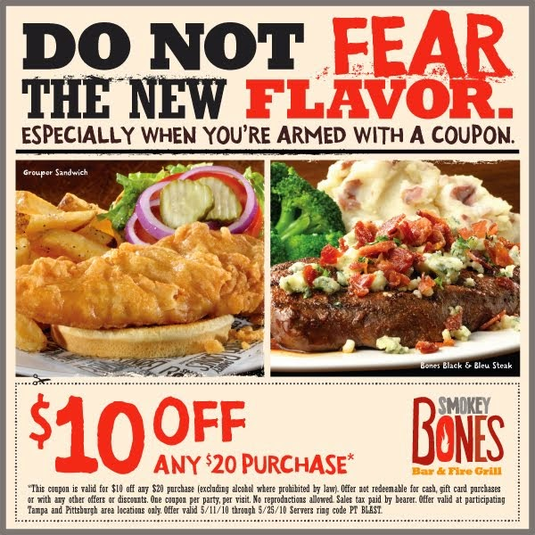 Smokey bones coupons 2019