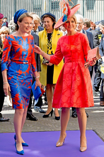 Queen Maxima of The Netherlands and Queen Mathilde of Belgium opened the exhibition of the Flemish Vormidable Contemporary Flemish Sculpture
