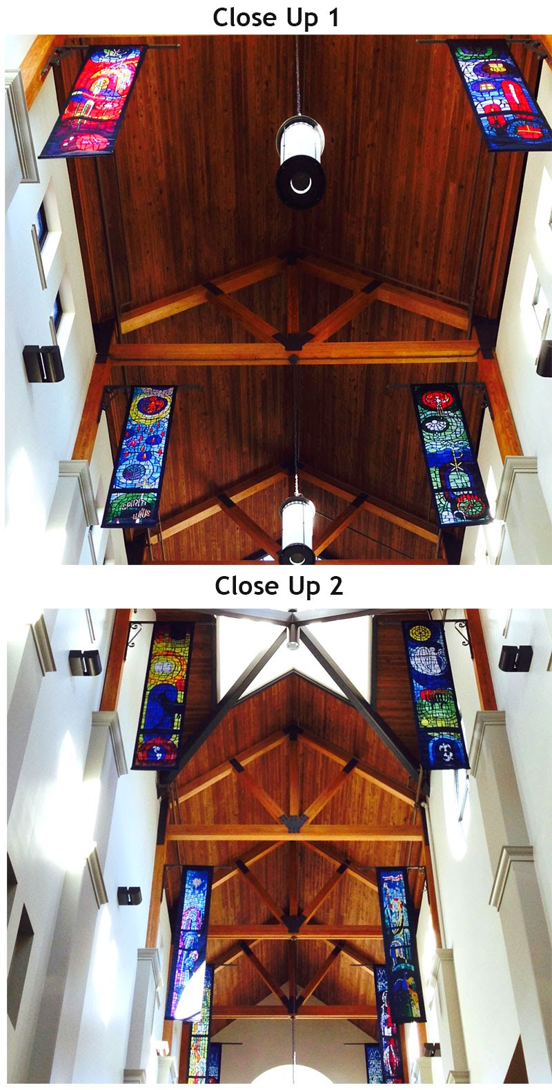 Custom Stained Glass Banners from PraiseBaners
