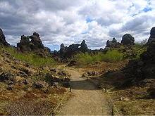 What band name Dimmu Borgir means - Dimmuborgir lava fields - Iceland