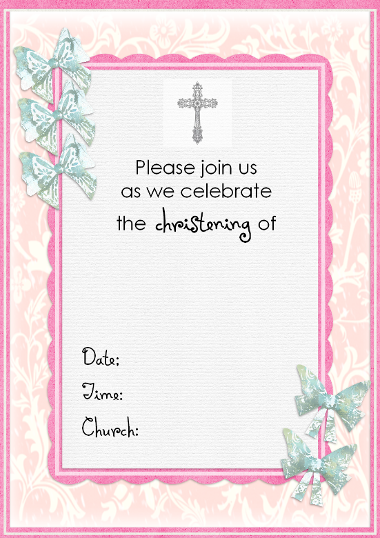 ... Baptism Invites Templates By Free Christening Invitation Cards ...