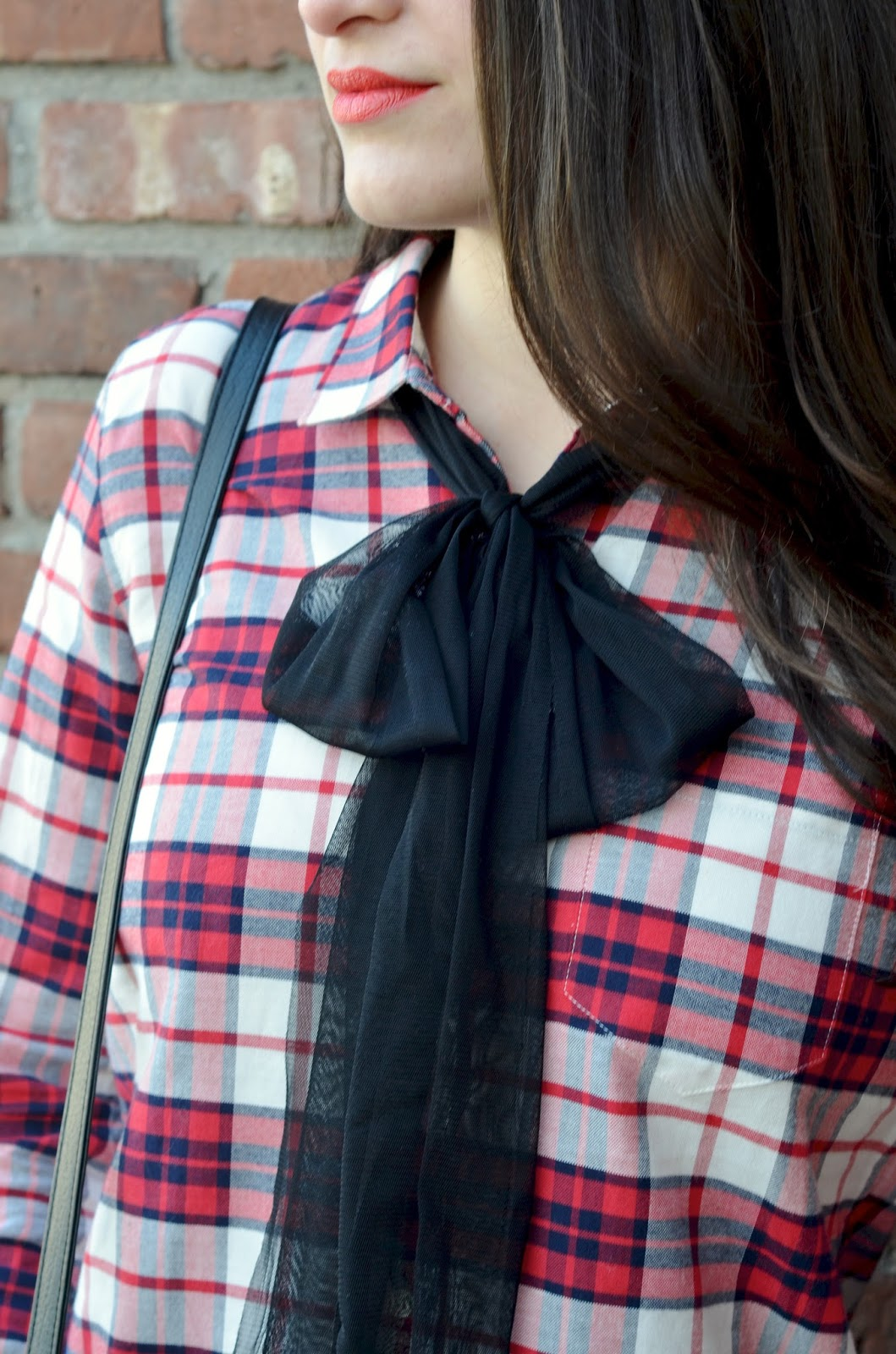 plaid + a bow
