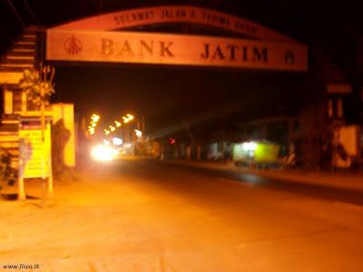 Perbatasan Blitar-Kediri malam hari (modus malam on)