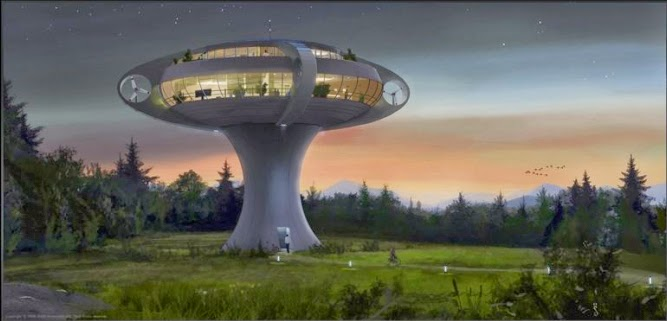 le design selon quan une maison champignon respectueuse de l 39 environnement. Black Bedroom Furniture Sets. Home Design Ideas
