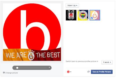 facebook gameface profil fotoğrafına resmine galatasaray gs takım kulüp logosu eklemek nasıl eklenir?