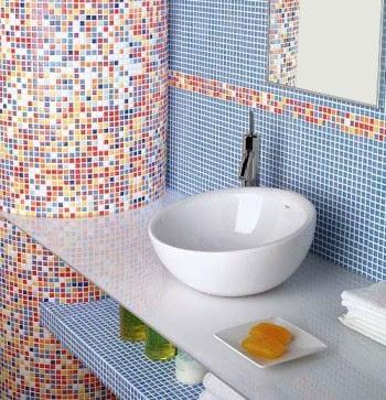 Decoraci n de interiores azulejos originales para el ba o - Alicatados de cuartos de bano ...