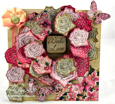 visible image stamps - butterfly stamp - rose stamp