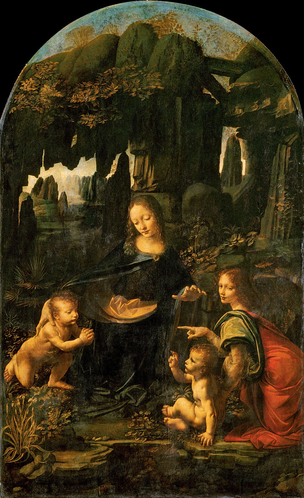 Virgin of the rocks by da vinci