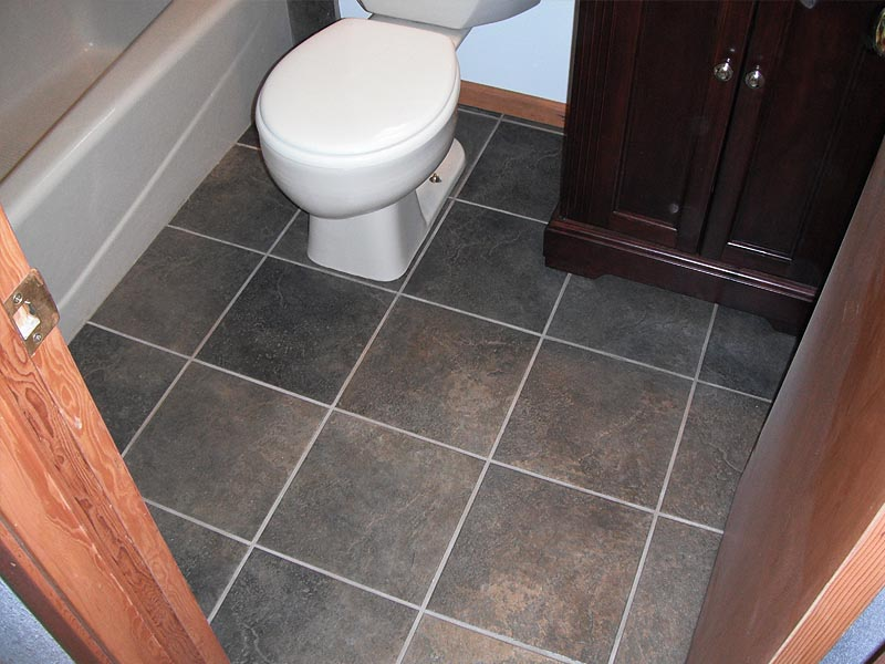 Marvelous bathroom floor tile for cool house yonehome for Bathrooms b q installation