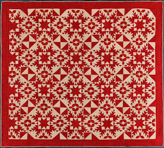 American Folk Art Museum Red and White Quilt