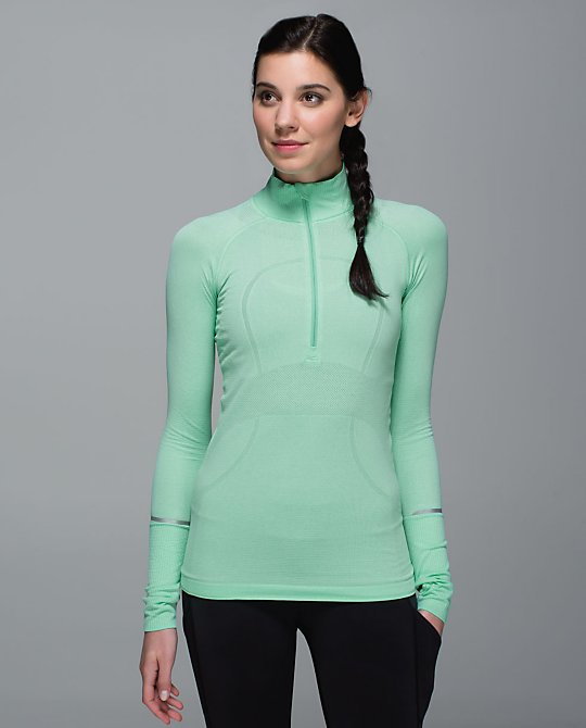 lululemon menthol swiftly half zip