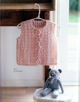 Chaleco para niño o niña a crochet