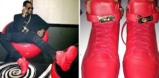 Are you feeling Dbanj's Jon Buscemi's  Red Leather Sneakers