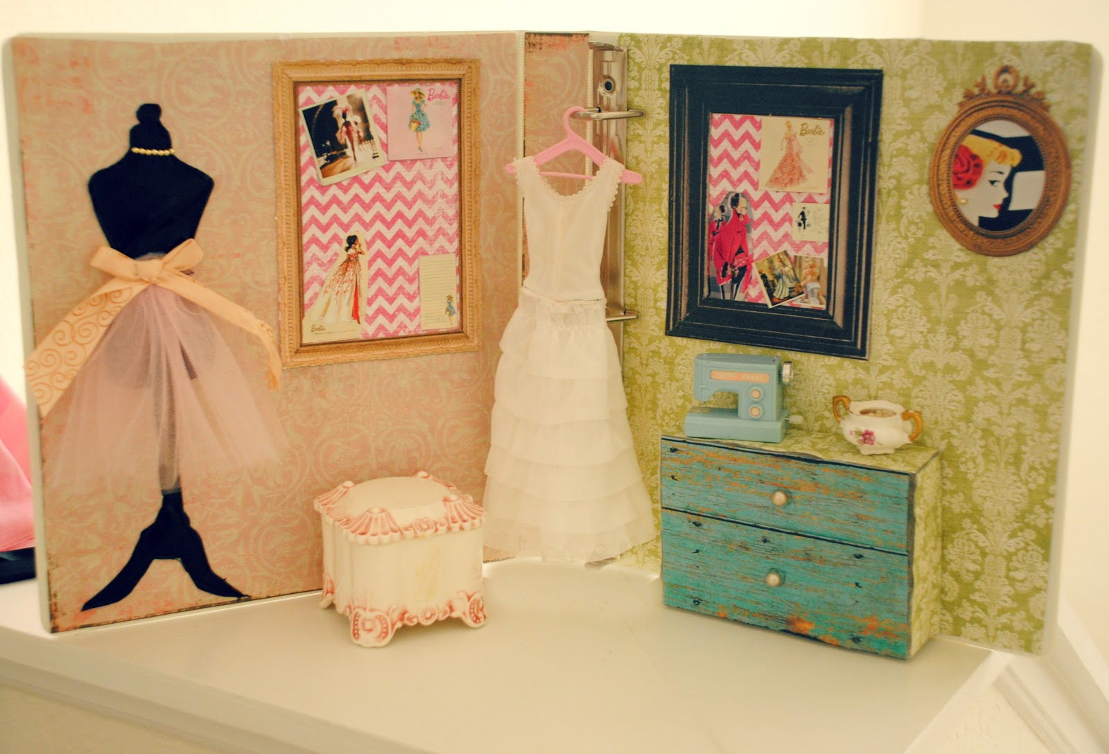 Trash To Couture: DIY Gift: Barbie Sewing Studio
