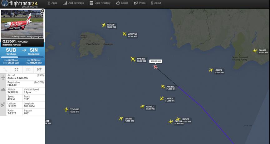 8 Kapal TNI AL Dikerahkan Untuk Mencari Pesawat AirAsia QZ8501