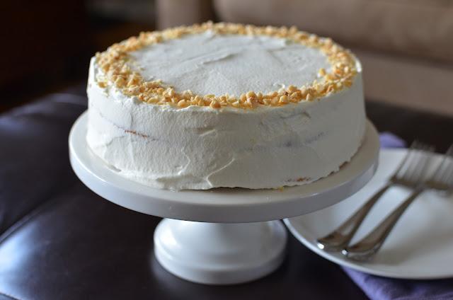 Hazelnut Meringue Nutella Cake