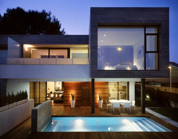hogares frescos 6 viviendas pareadas unidas por On diseno exterior casa contemporanea