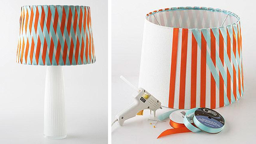 Grosgrain no sew color coordinated criss cross ribbon lampshade lampshade that coordinated with specific colors in your room just buy ribbon which has more variety of color you can also try to dye ribbon to get an aloadofball Choice Image