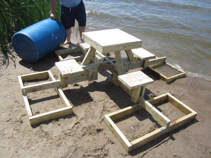 World of technology floating picnic table 21 pics watchthetrailerfo