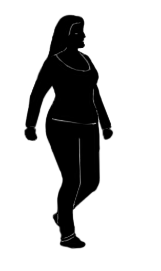 woman with full figure silhouette