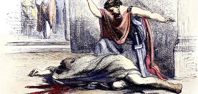 an examination of the scenes in the play julius caesar From act ii, scene 2, of shakespeare's julius caesar  to throw off the villain's  suspicions, the play within the play as a means of testing the villain, and still more.