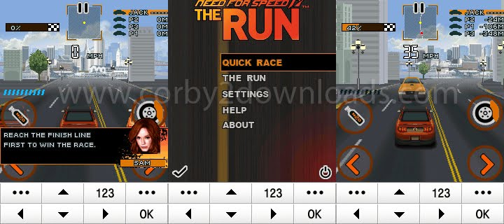 240x320 Java Game: Need For Speed The Run