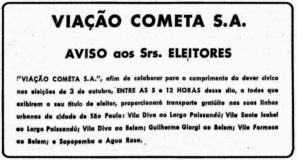 Vila Santa Isabel, eleições, democracia, transporte público, Zona Leste de São Paulo, história de São Paulo, bairros de São Paulo, Vila Formosa, Vila Carrão