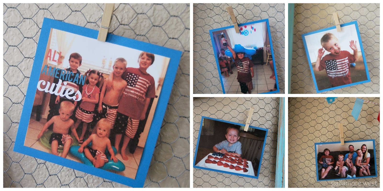 Patriotic Photo Display at www.gallamorewest.com
