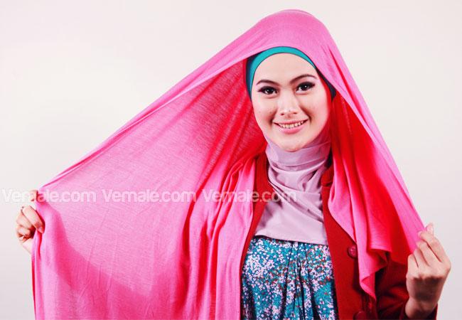 Tutorial Jilbab Pashmina Bahan Kaos Modis