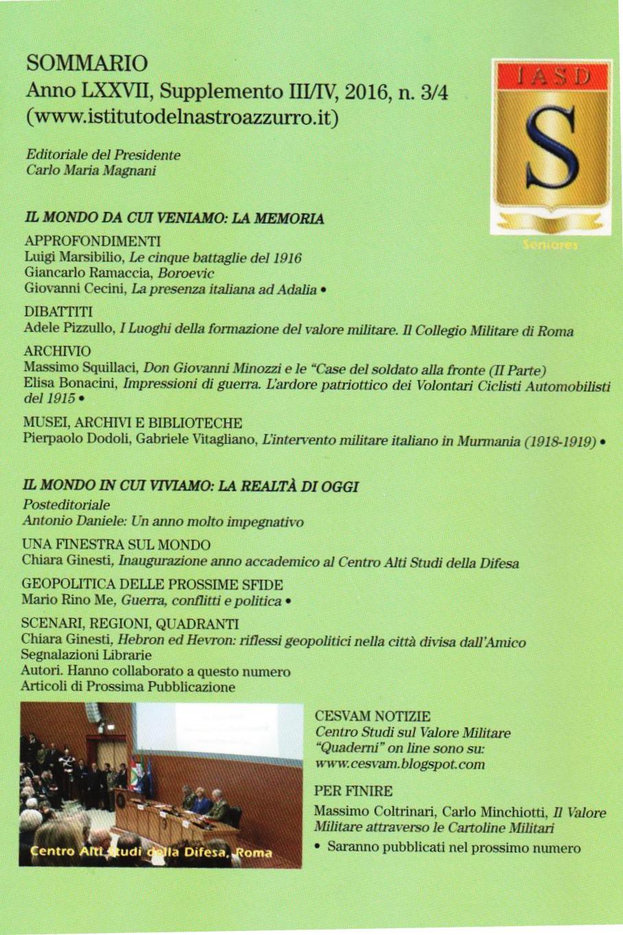 Quaderni n. 3/4 2016