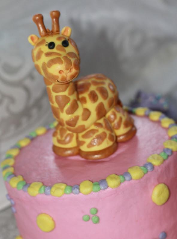 Sweet Celebrations Giraffe 1st Birthday Cake