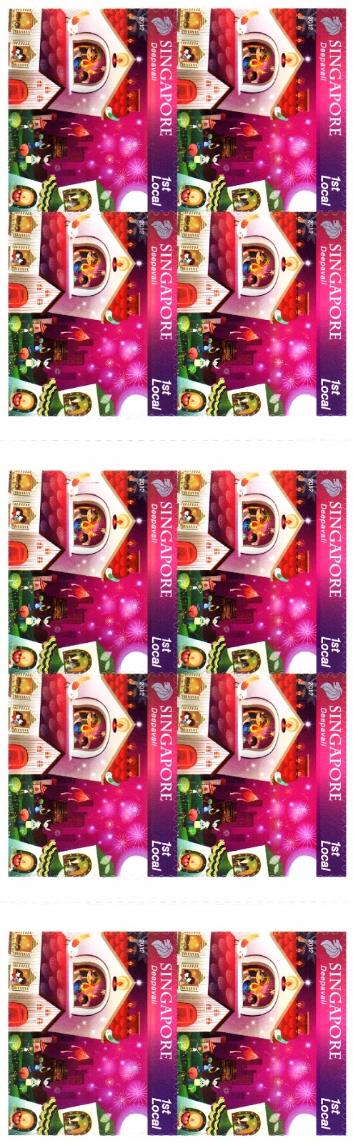 Self-adhesive Stamp Booklet S$2.55 - Deepavali