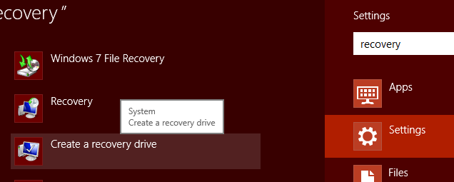 create windows 8 recovery disk from windows 7