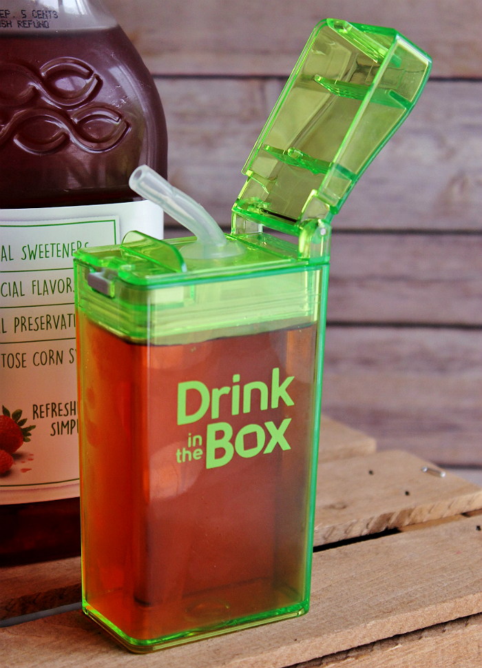 The Drink In The Box by Eastman Tritan™ is virtually indestructable, leak proof when closed, and the perfect alternative to 'questionable' single serve juice boxes.(ad)