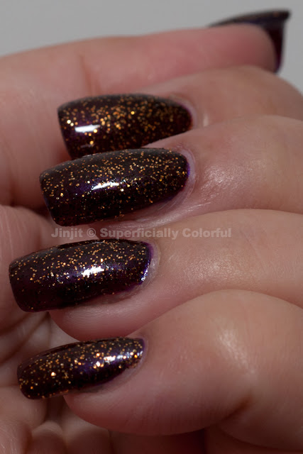 The Nail Junkie - Jin over Elevation Polish - Denali