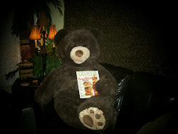 my bear sprungli... enjoying a little light reading..