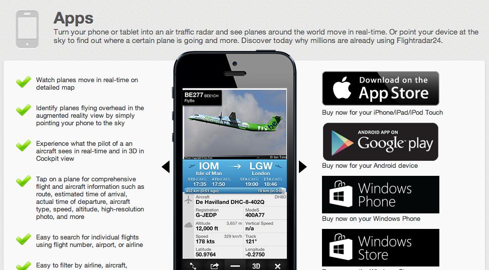 App - flightradar24