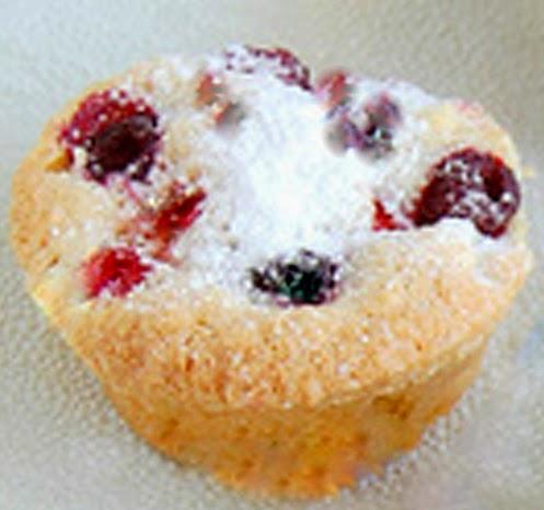 Mufin ou Babycake de frutas vermelhas