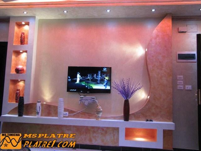 Placard De Tv Decoration Platre Plafond