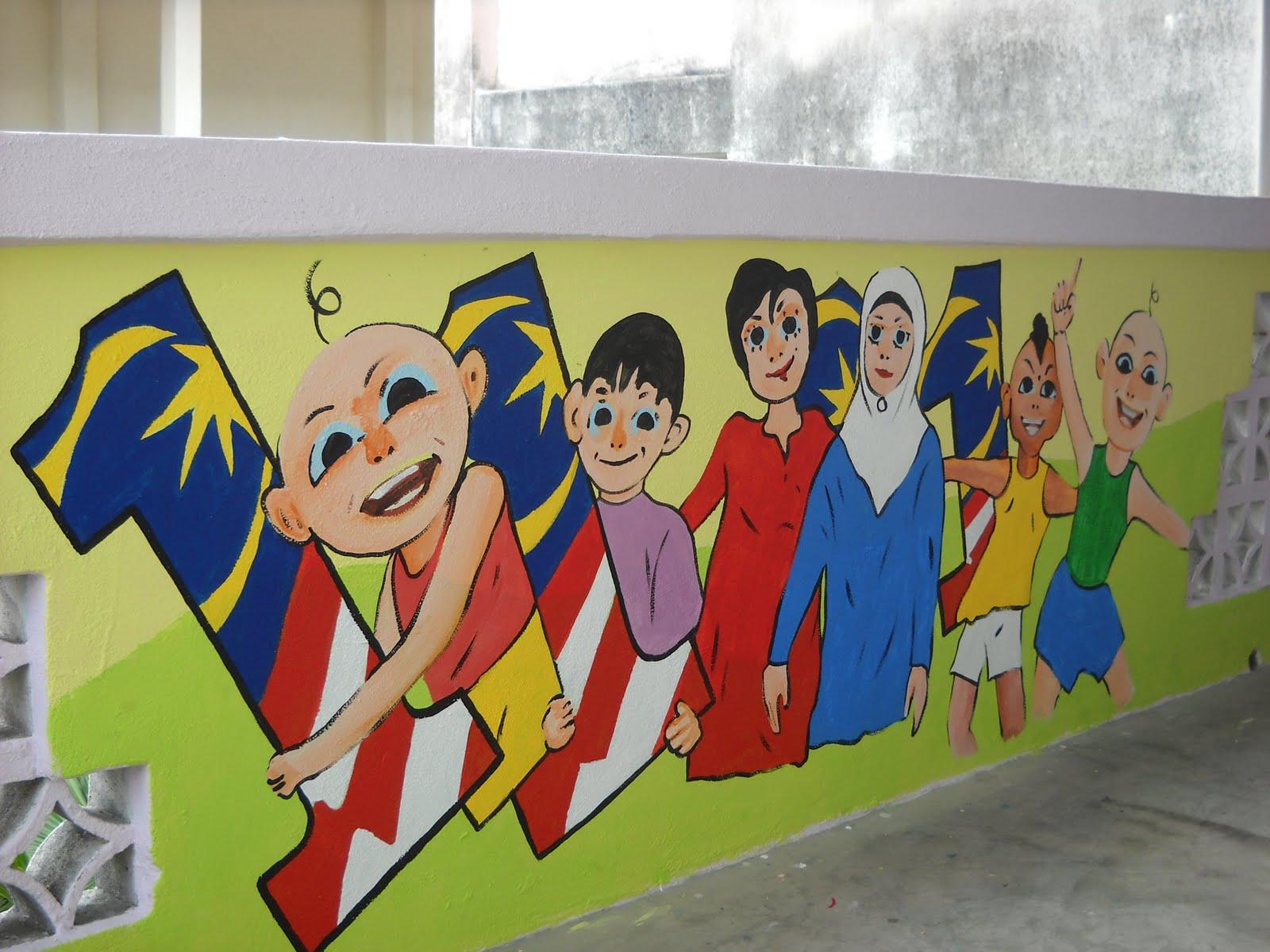 pelukis mural shah alam pelajar 1 malaysia