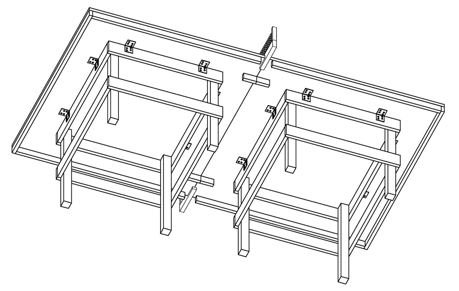Costruire facile come costruire un tavolo da ping pong for Costruire un tavolo pieghevole