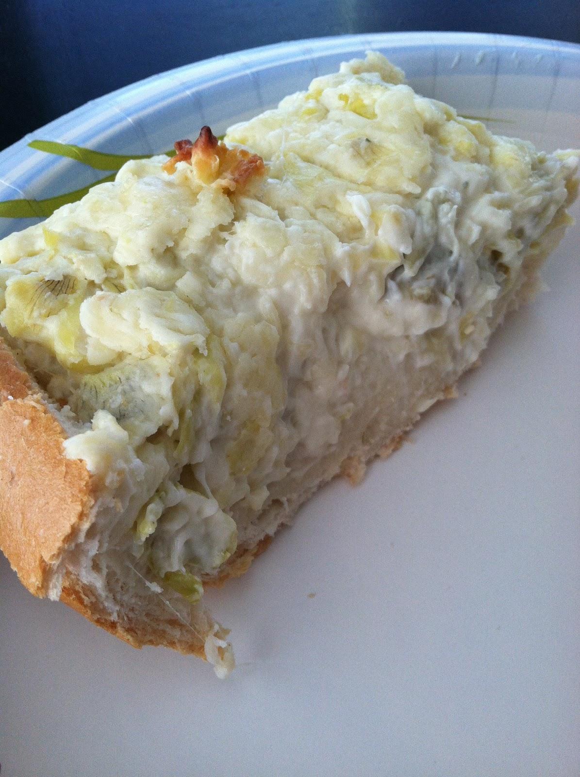 7CooksInAKitchen: Cheesy Artichoke Bread