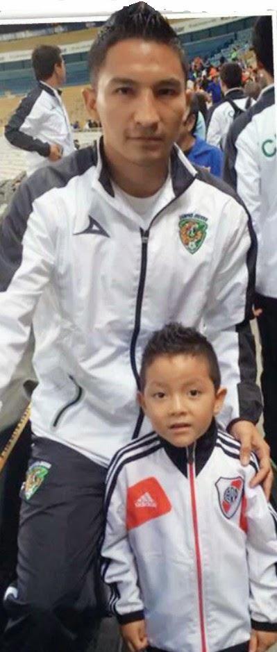 César Villaluz y su hijo Cesarín